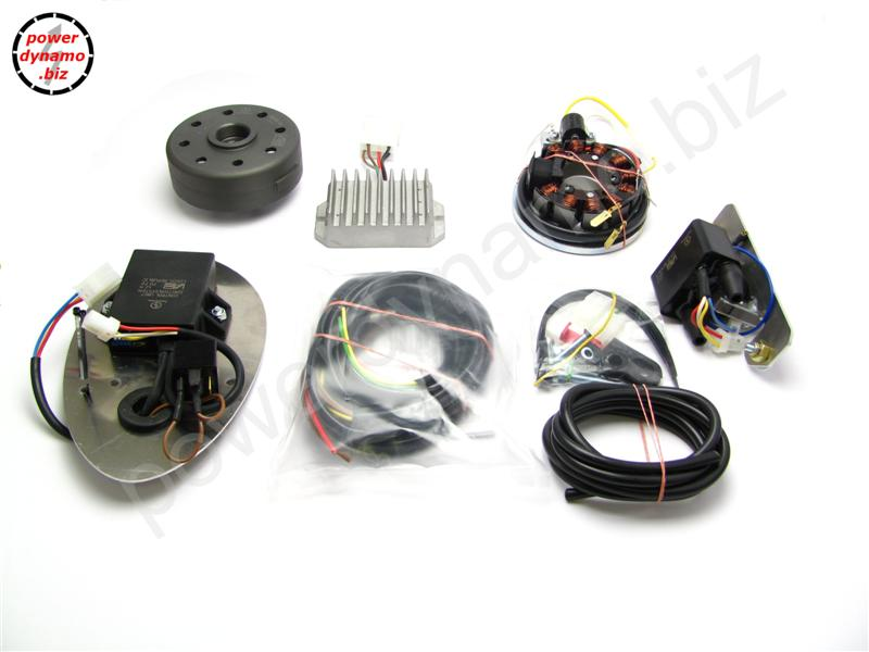 powerdynamo for ifa mz bk 350wiring diagram of the system as such · parts in the pack (photo)
