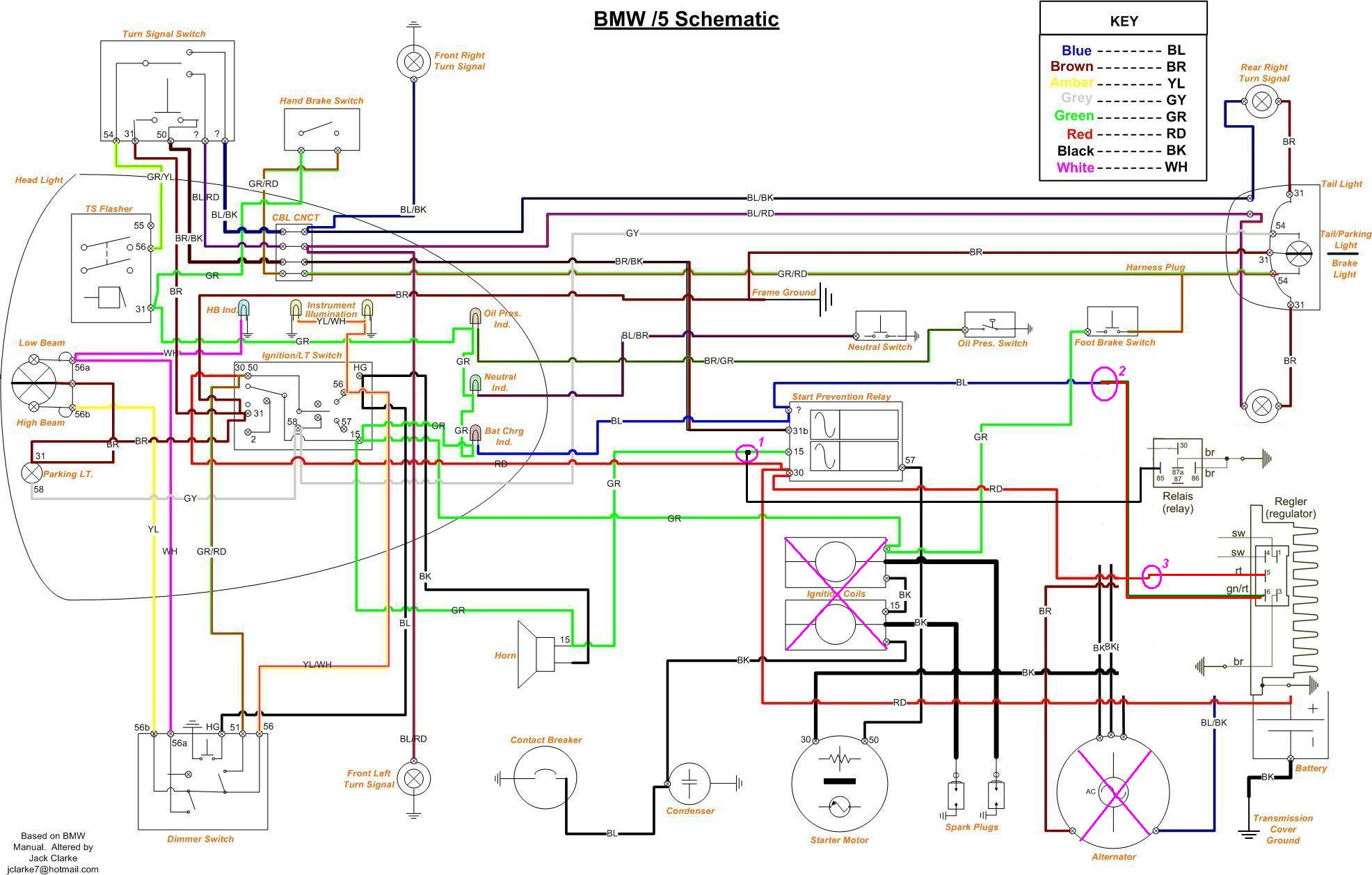 wiring diagram for bmw r75 6 bmw k75 wiring diagram wiring