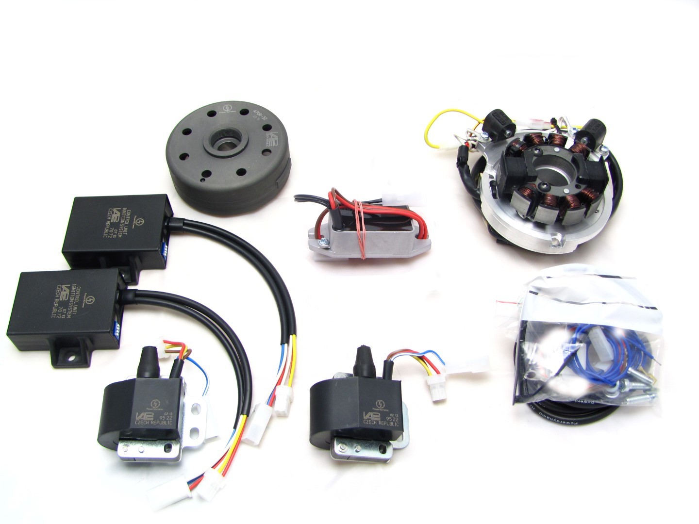 Powerdynamo For Morini 350 V Twin Automotive Lighting System Wiring Diagram Assembly Instructions Parts In The Pack Photo