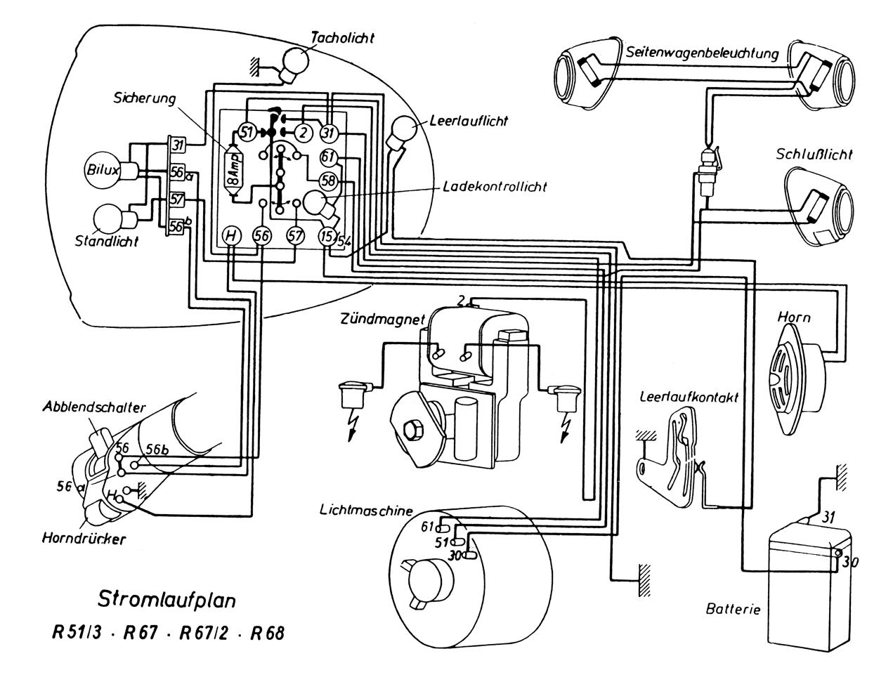 Powerdynamo Installationsanleitung Fr Bmw 2 Ventil Boxer Wiring Diagram Original Schaltplne Zum Vergrern Bitte Anklicken Diagrams Please Click On It For Enlargement