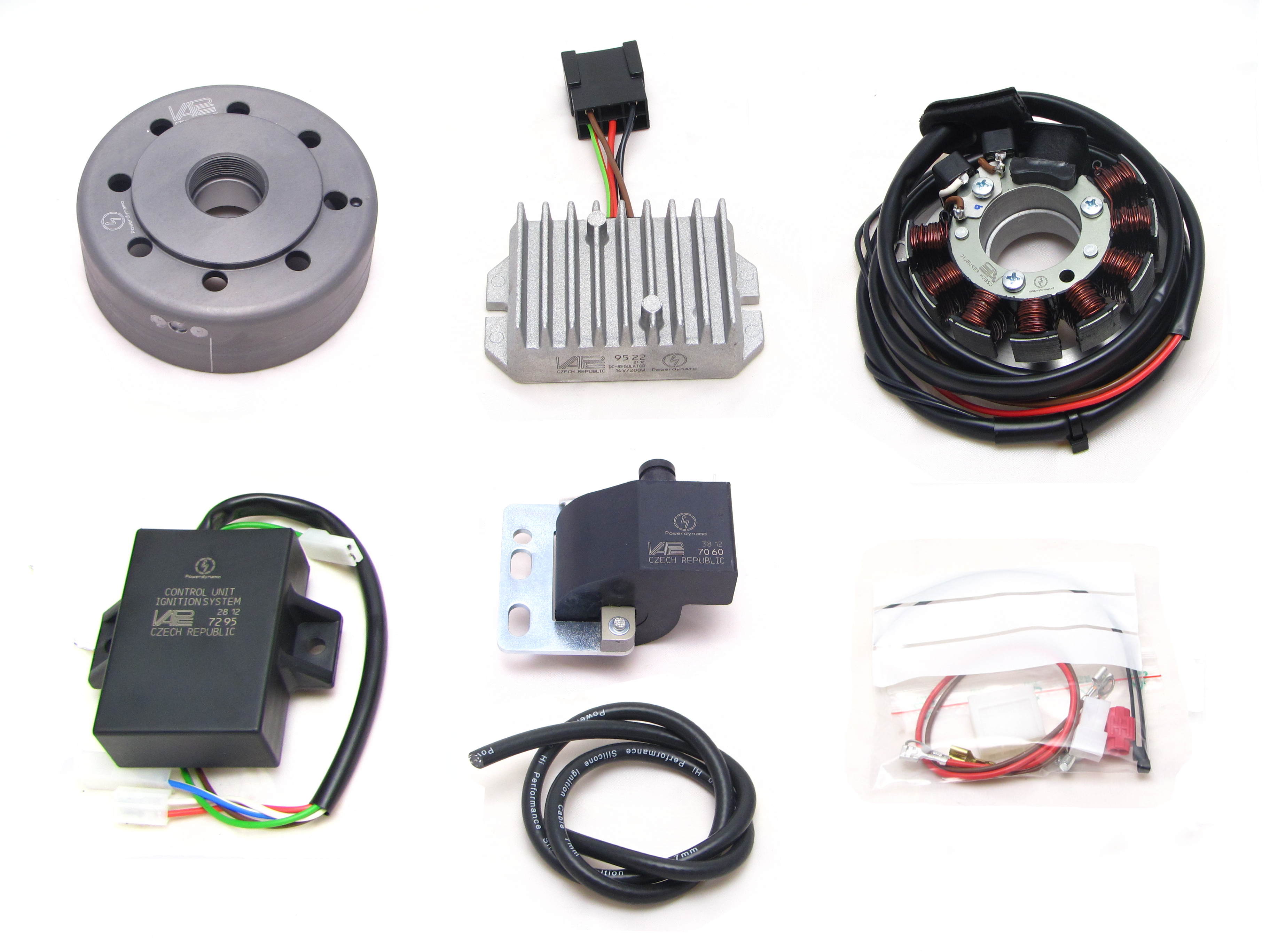 Powerdynamo For Mv Augusta 175 Csgt Electronic Ignition Wiring Diagram Ih Assembly Instructions Parts In The Pack Photo