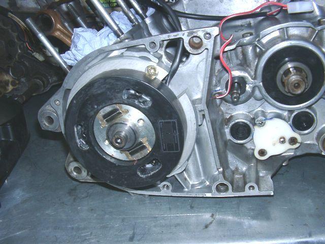 Powerdynamo, racing ignition for early Yamaha RD (small shaft) on