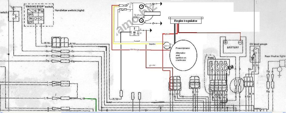 mod_wire powerdynamo, complete system for early yamaha rd with stock points rd 250 wiring diagram at bayanpartner.co