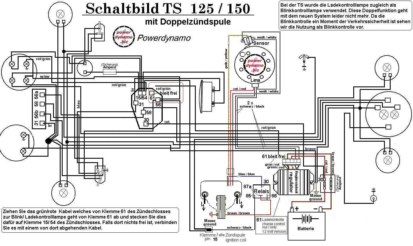 Ts 125 Wiring Diagram Application 1973 Suzuki Powerdynamo For Mz Es 150 Twin Plug Head Rh Biz 1978