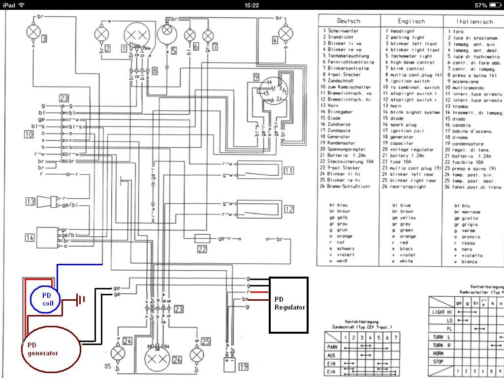 Powerdynamo, System für KTM 546, 547, 556 mit 110mm Grundplatte