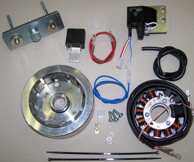 Powerdynamo, assy instructions for CZ 981 380ccm offroads