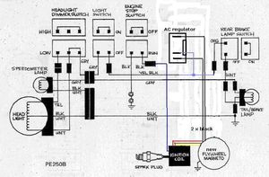 suzuki pe 175 wire diagram wiring diagram u2022 rh championapp co electrical diagram panasonic amp for goldwing electrical diagram polo happy 9n3 2007