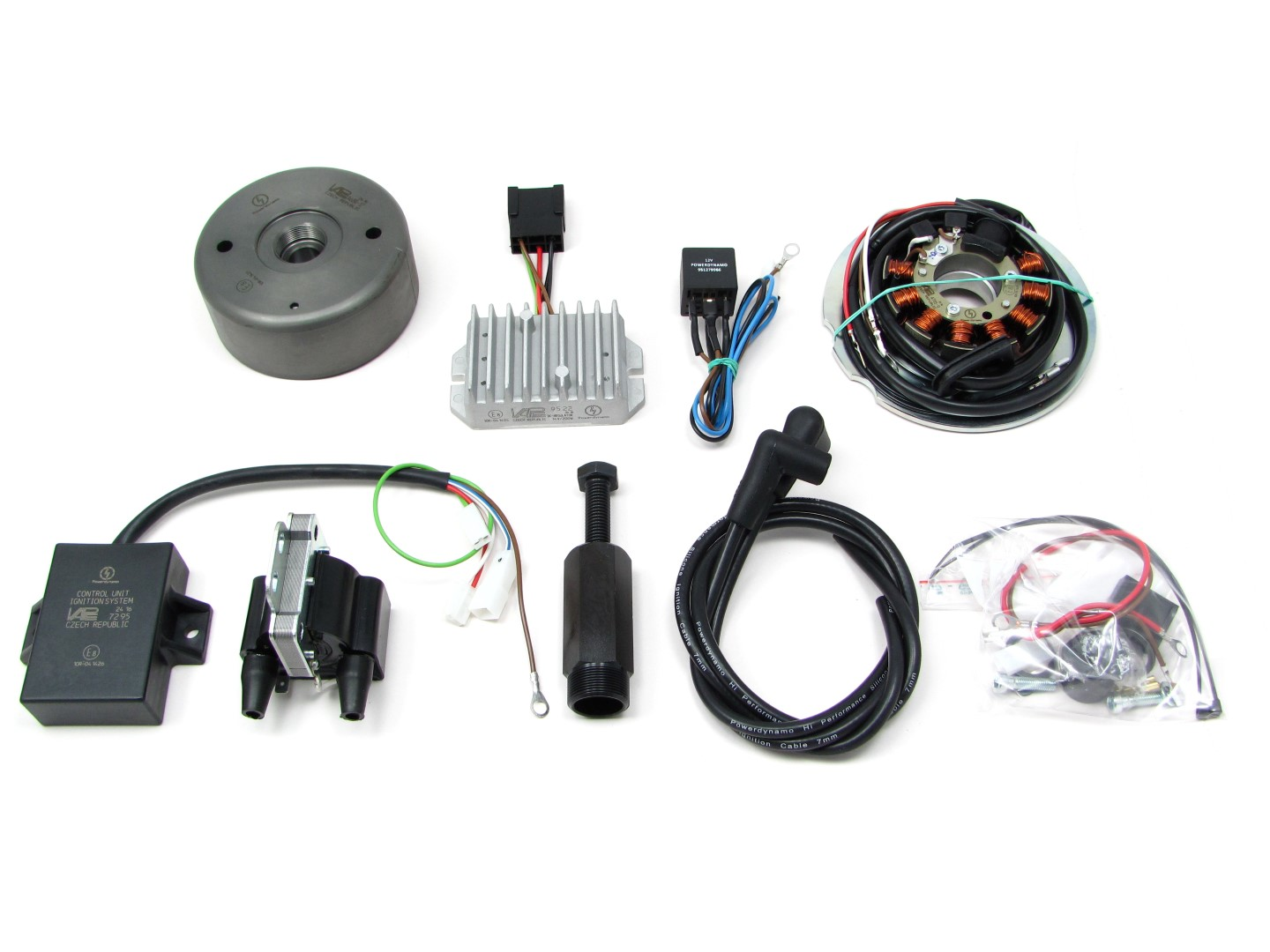 Powerdynamo replacement system ing Yamaha XS 650 (complete system) on