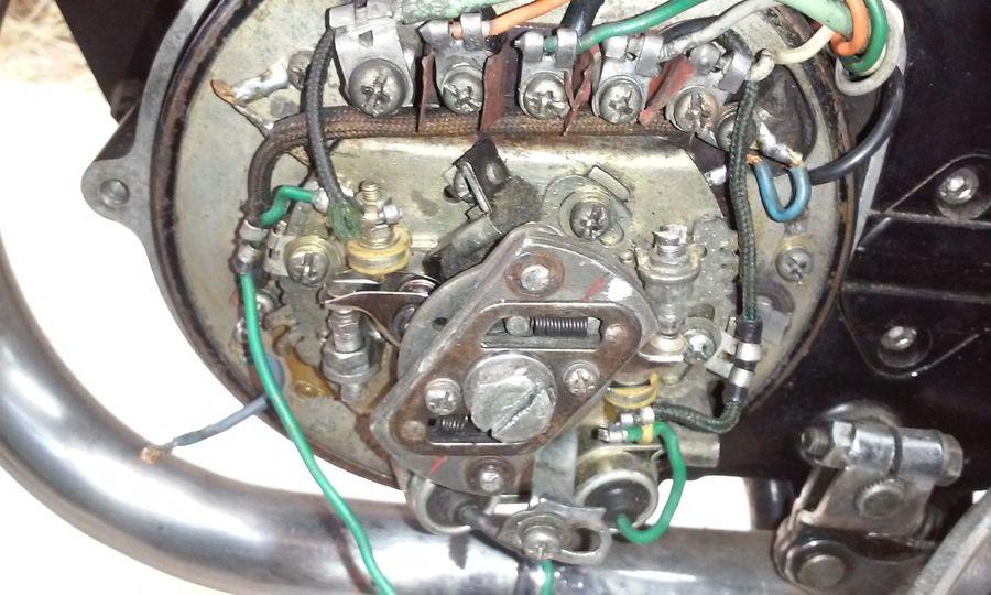 Powerdynamo, Installationsanleitung für Yamaha RD200 Typ 397