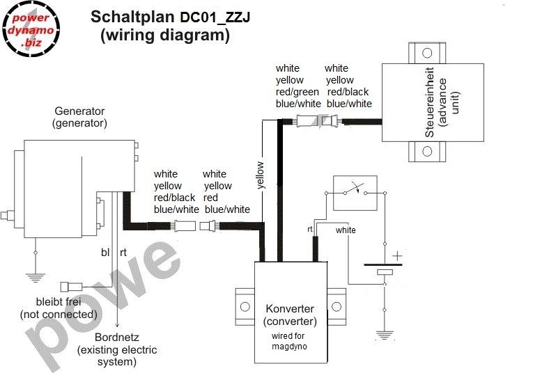 Powerdynamo, Umbau PD Magnetzünder auf Batteriezündung